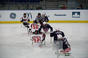 Winter Paralympic Games - Ice sledge hockey game at the 2010 Winter Paralympics