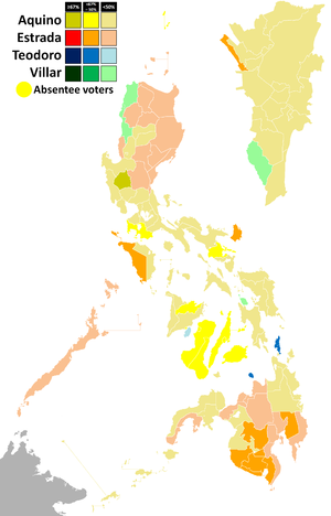 Philippine general election, 2010 - Presidential election results.
