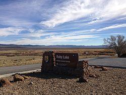 2013-10-20 14 21 47 Entrance sign at Ruby Lake National Wildlife Refuge.JPG