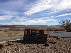 Ruby Lake National Wildlife Refuge - Image: 2013 10 20 14 21 47 Entrance sign at Ruby Lake National Wildlife Refuge