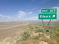 2014-06-10 16 06 10 Sign for Exit 317 along eastbound Interstate 80 in Elburz, Nevada.JPG