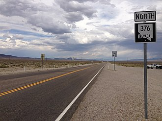 Nevada State Route 376 - First reassurance sign along northbound SR 376