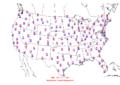 2015-10-15 Max-min Temperature Map NOAA.png