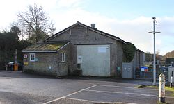 2015 at Templecombe station - engineers siding and old goods shed.JPG