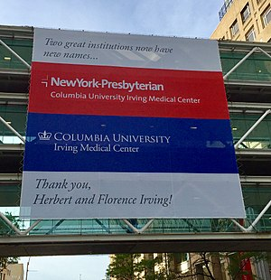 Columbia University Medical Center - Image: 2016 9 21 CUMC Skybridge Irving Announcement