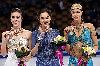 Evgenia Medvedeva - Medvedeva at the 2016 World Championships podium