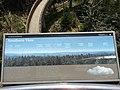 2017-05-17 13 33 03 Sign describing the view south from the observation tower on Clingmans Dome in Great Smoky Mountains National Park, on the border of Sevier County, Tennessee and Swain County, North Carolina.jpg