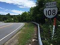 2017-06-27 11 30 16 View north along Virginia State Route 108 (Figsboro Road) at Virginia State Route 174 (Kings Mountain Road) just northeast of Collinsville in Henry County, Virginia.jpg