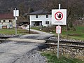 2018-01-28 (235) Level crossing at Mariazellerbahn in Kirchberg an der Pielach.jpg