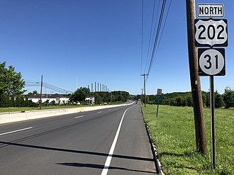 Raritan Township, New Jersey - US 202 and Route 31 northbound in Raritan Township
