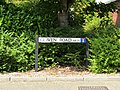 2018-07-23 Street name sign, Glaven road, Holt, Norfolk.JPG