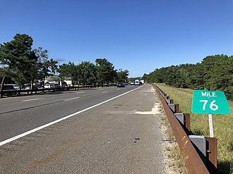 Lacey Township, New Jersey - The northbound Garden State Parkway in Lacey Township