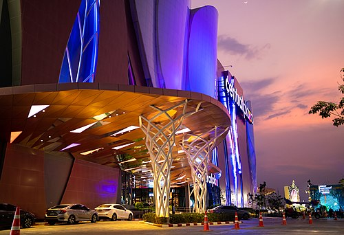 CentralPlaza at sunset 2019 02 Central Mall Korat exterior.jpg
