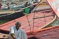 2019 Jan 16 - Prayagraj Kumbh Mela - Portrait of a Boatman with his boat.jpg