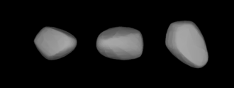 201 Penelope - A three-dimensional model of 201 Penelope based on its light curve.