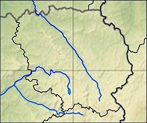 Крёз на карте