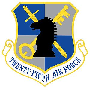Numbered Air Force - Image: 25th Air Force Shield