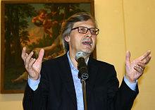 Sgarbi presenta una mostra a Milano (2007)