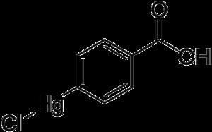 4-Chloromercuribenzoic acid - Image: 4 chloromercuribenzoic acid