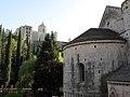 422 Sant Pere de Galligants (Girona), absis, amb la Catedral al fons.JPG