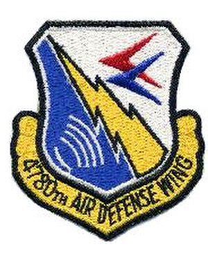 4780th Air Defense Wing - Image: 4780th Air Defense Wing patch