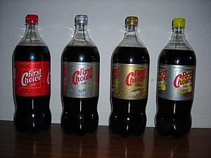 Four bottles of First Choice Cola: 1 for each ...