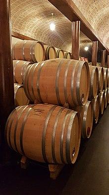 Oak wine barrels Personalized Wine 500 Litre French Oak Wine Barrels In Bodegas Casajús In Ribera Del Duero Wikipedia Oak wine Wikipedia