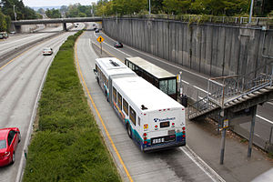 Sound Transit Express - Sound Transit Express route 545 serving the Montlake Freeway Station