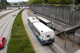 Sound Transit Express - Sound Transit Express route 545 serving the Montlake Freeway Station