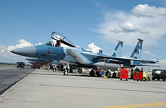 Red Flag – Alaska - A 65th Aggressor Squadron F-15 at Eielson during Red Flag.