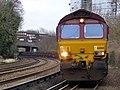 66068 Dollands Moor to Scunthorpe 6E32 empty steel (32269259234).jpg