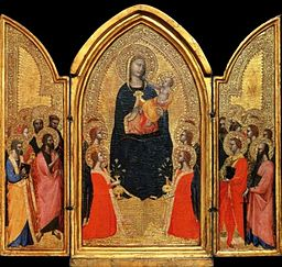 6 Andrea di Cione Orcagna, Madonna with Child, Angels and Saints 1345-50 Saint Louis Museum of Art.jpg