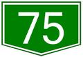 75-ös főút táblája.png