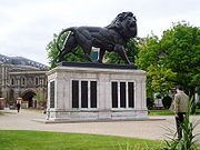 The Maiwand lion in Forbury Gardens — an unofficial symbol of Reading