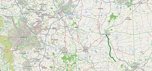 A156 road - Image: A156 road map