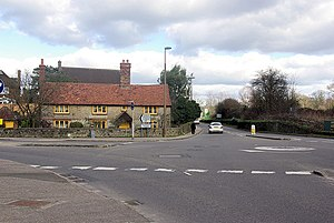 A286 road - A286/A272 junction at Easebourne
