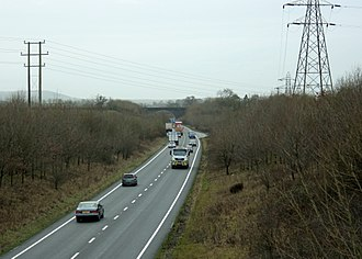 A361 road - Image: A361 Frome bypass looking south from Clink Road geograph.org.uk 1630330