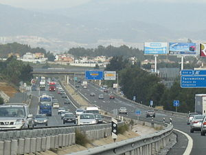 Autopista AP-7 - AP-7 in Málaga.
