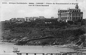 Healthcare in Senegal - Dakar- Government Palace and Hospital, Circa 1920.