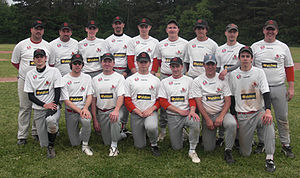 English: Picture of the senior baseball team o...