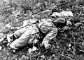 A Chinese soldier, killed by Marines of the 1st Marine Division in Korea during attack on Hill 1051, on Kari San Mountain HD-SN-99-03165.jpg