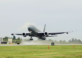 A KC-46 Pegasus took to the skies for its first flight at Paine Field in Everett (1).JPG