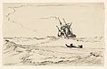 A Storm at Sea with a Large Ship and a Small Boat with Two Figures MET DP857012.jpg