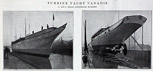 TS Vanadis - Image: A and J Inglis Vanadis (1908)