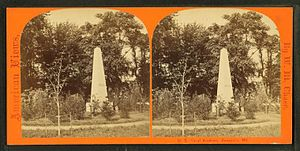 Herndon Monument - The Herndon Monument in 1868.