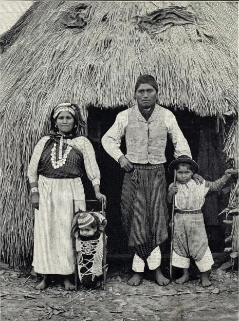 Famille mapuche vers 1910.