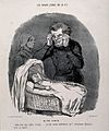 A father looks over his vaccinated, ugly child and is glad t Wellcome V0011817.jpg