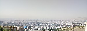 A panoramic view of Tehran during the day in summer.jpg