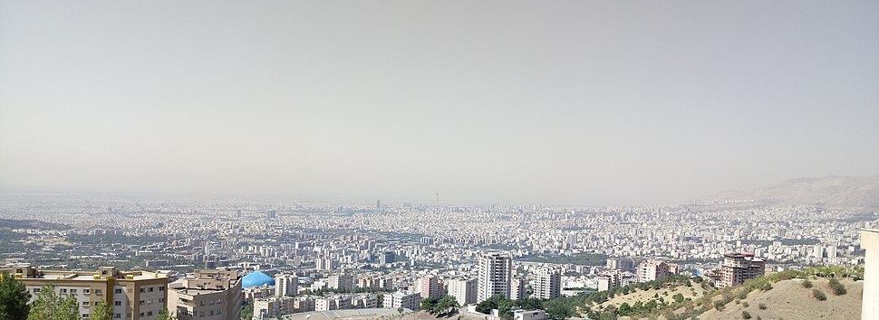 A panoramic view of Tehran during the day in summer