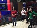 A presenter at Ronahi TV, Qamislo.jpg